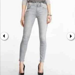 Express mid rise grey skinny jeans